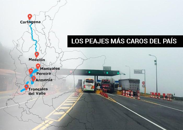 ¿Quién se queda con la plata de los peajes en Colombia?