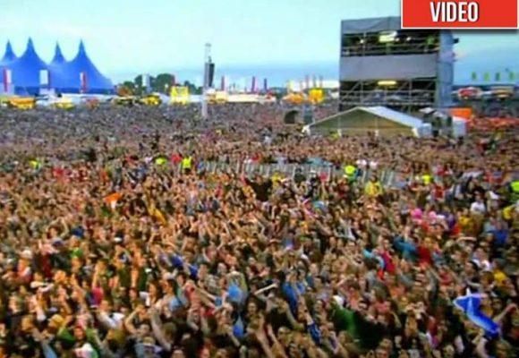 El concierto de Snow Patrol que hizo cantar a una ciudad entera. Video
