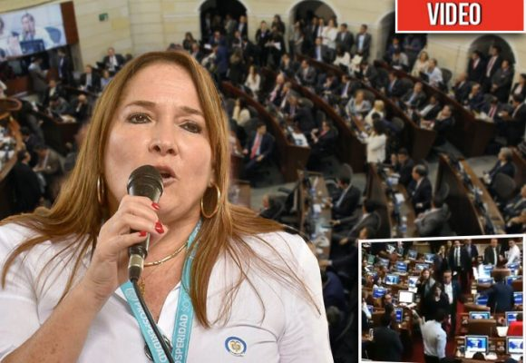 Pillada Susana Correa dando mermelada en el Congreso [VIDEO]