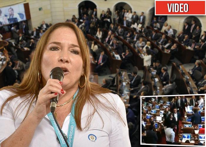 Pillada Susana Correa dando mermelada en el Congreso [VIDEO]