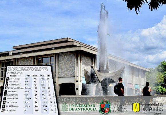 Las mejores universidades de Colombia por investigaciones