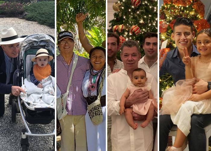 Uribe, Petro, Santos y James: así reciben el 2019