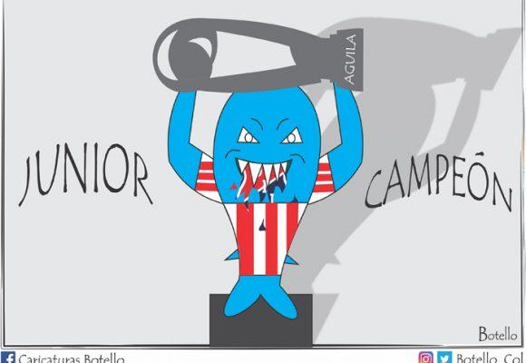 Caricatura: ¡Junior, campeón!