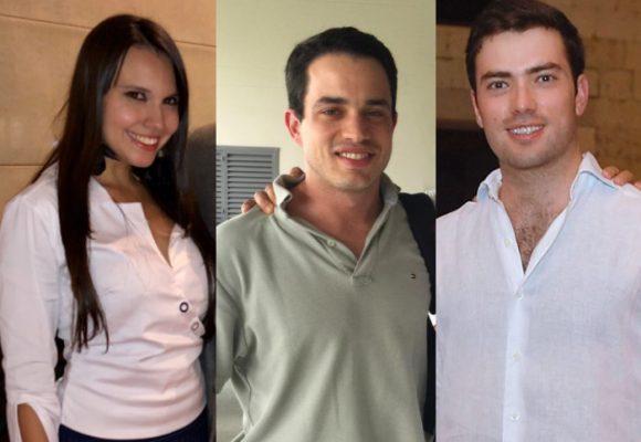 El trío en Twitter de Natalia Bedoya, Jerónimo Uribe y Esteban Santos