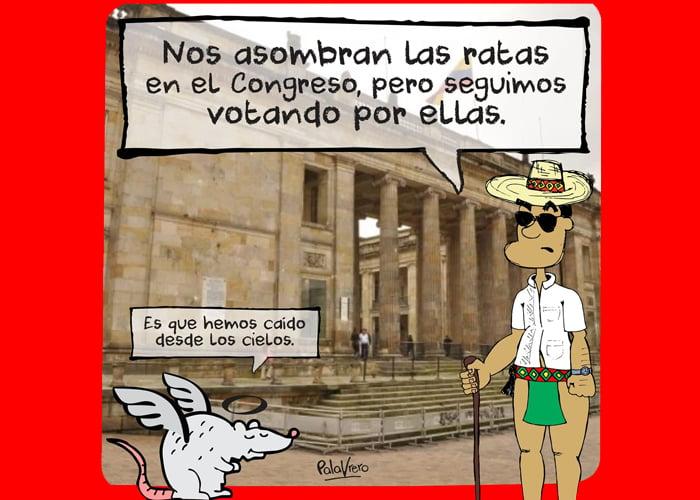 Caricatura: Ratas en el poder