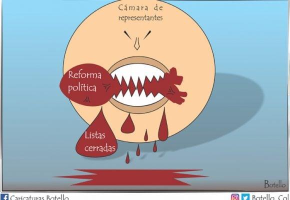 Caricatura: Herida a la reforma política