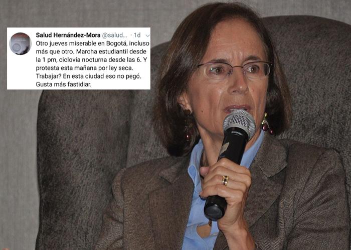 Salud Hernández, la española que sataniza las marchas estudiantiles
