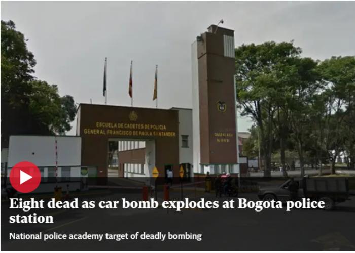Titulares del mundo registran el atentado en Bogotá