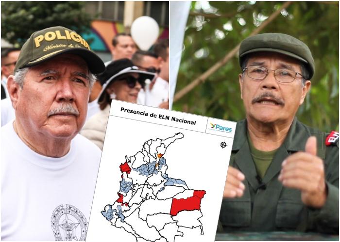 ¿Dónde está el ELN en Colombia?