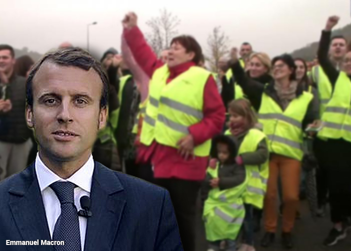 Los chalecos amarillos bajaron a Macron del pedestal