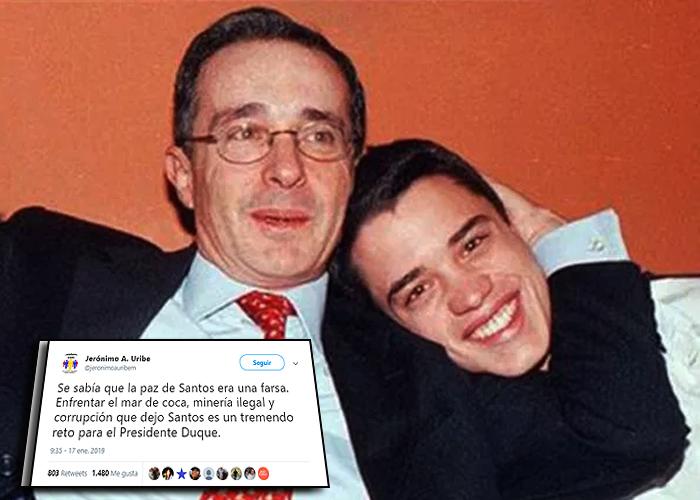 """""""Gracias Jerónimo, no se puede ser más mezquino con las víctimas"""": el rechazo al hijo de Uribe"""