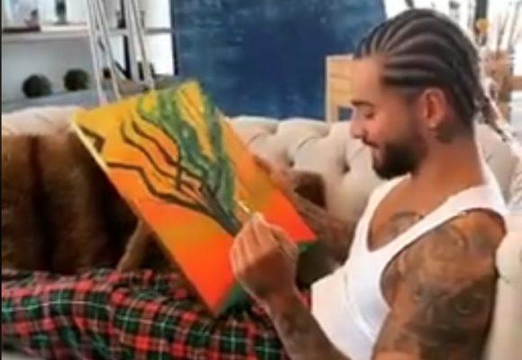 Increíble: Maluma resultó siendo peor pintor que cantante. Vídeo