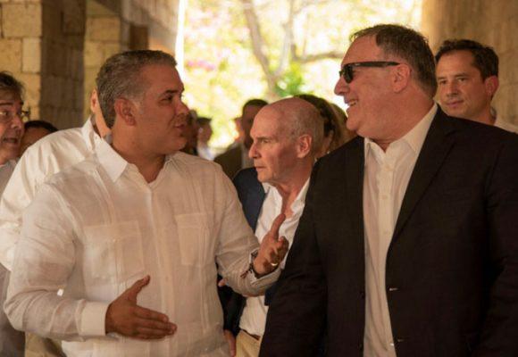 Pompeo-Duque: mano dura con Maduro y ayuda a los inmigrantes pobres