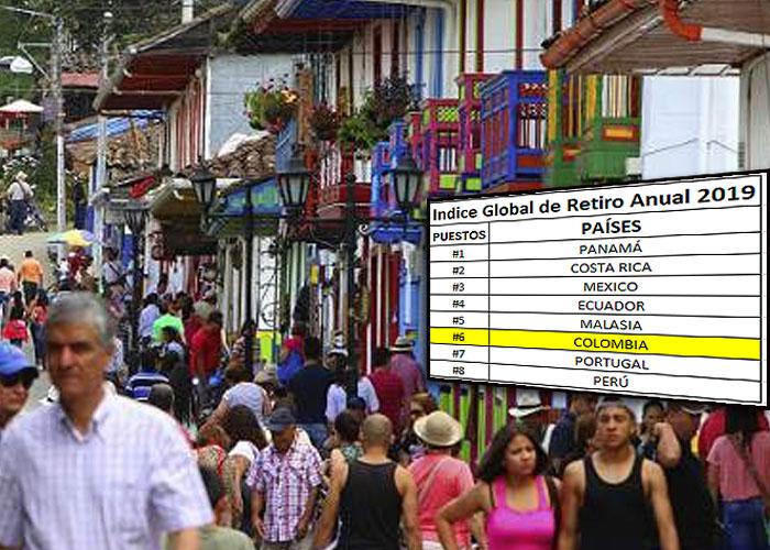 Colombia es el sexto mejor país para jubilarse