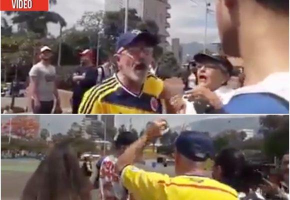 """VIDEO: """"O te quitas esa camiseta contra Duque o te pelamos"""": simpatizante uribista"""