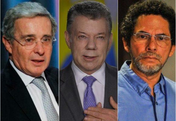 Uribe, Santos, Alape: reacción en trinos de los líderes del país