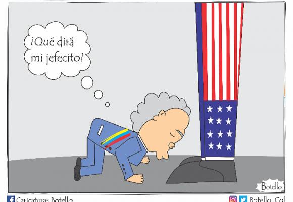 Caricatura: El arrodillado