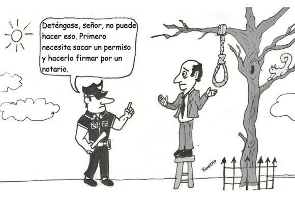 Caricatura: ¡Maldita burocracia!