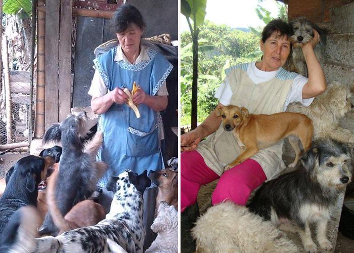 La mamá de 400 animales, entre la vida y la muerte