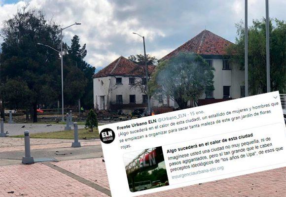 Temerario mensaje del ELN 3 días antes del atentado en Bogotá