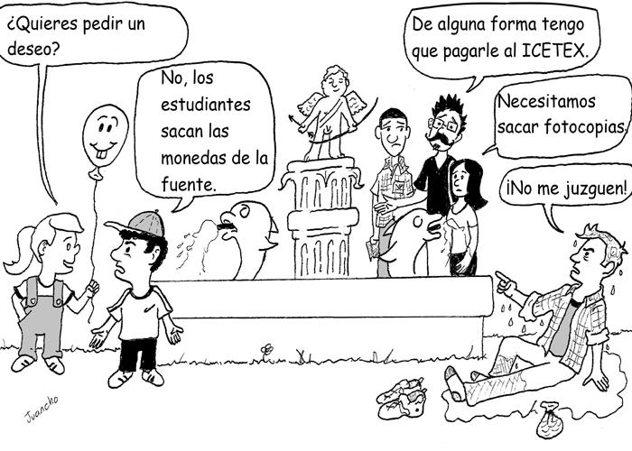 Caricatura: Vida de estudiante