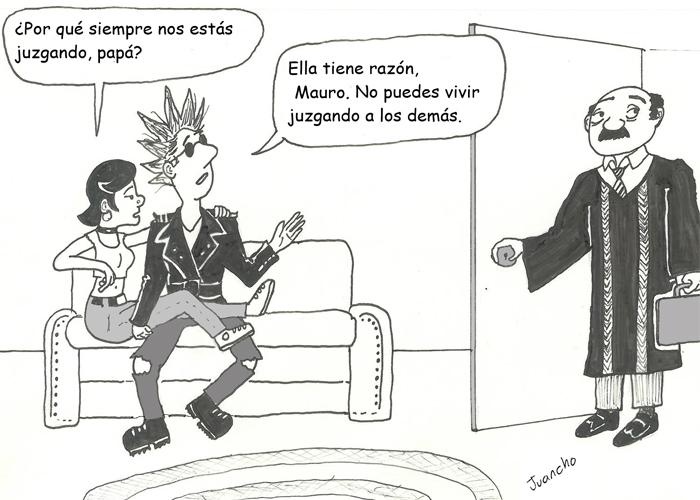 Caricatura: Vida de juez