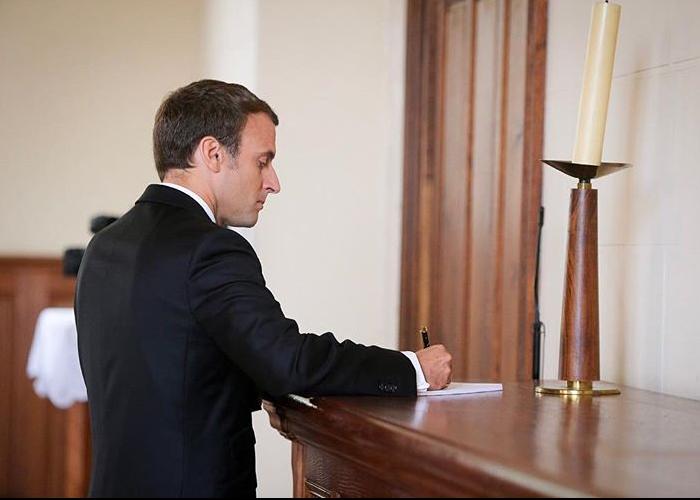 La carta de Macron