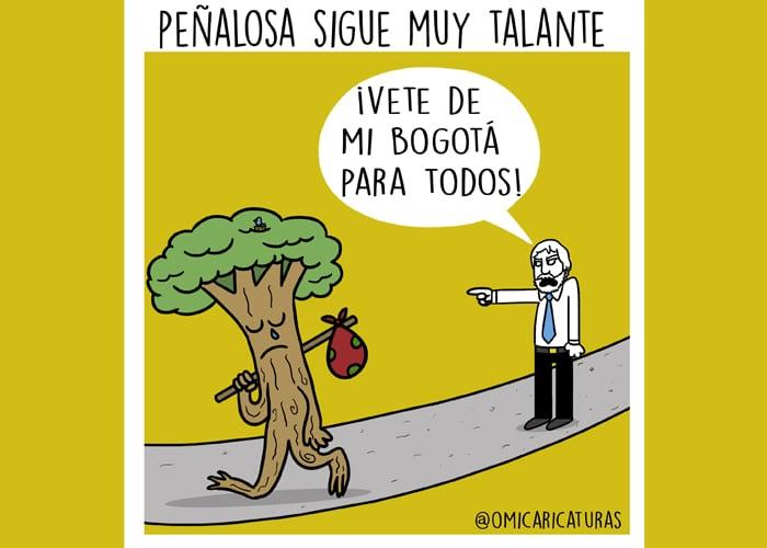 Caricatura: Peñalosa, el talador