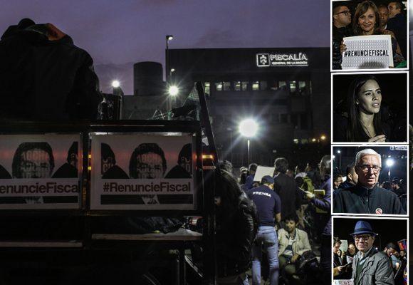 Menos masivo, pero más influyentes: nuevo plantón contra el fiscal Martínez