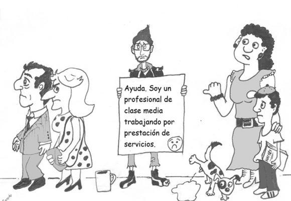 Caricatura: El drama de la prestación de servicios