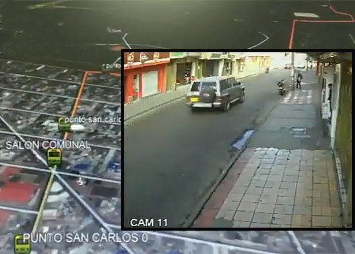 VIDEO. Este fue el recorrido de la camioneta antes de explotar en la General Santander