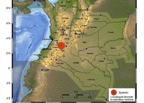 Fuerte temblor sacude el sur y centro de Colombia