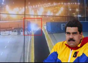 VIDEO: El desespero de Maduro en el puente Tienditas