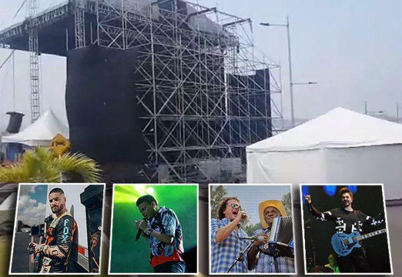 Listo el escenario en el puente Tienditas. Video