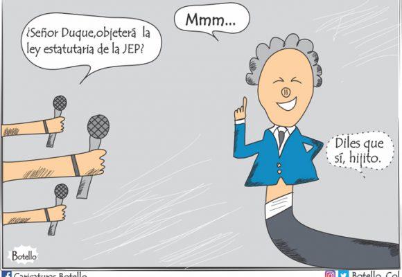 Caricatura:  ¡La JEP, en riesgo!
