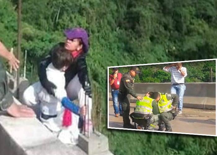 Se supo la verdad por la que Jessy Paola se lanzó con su hijo del puente