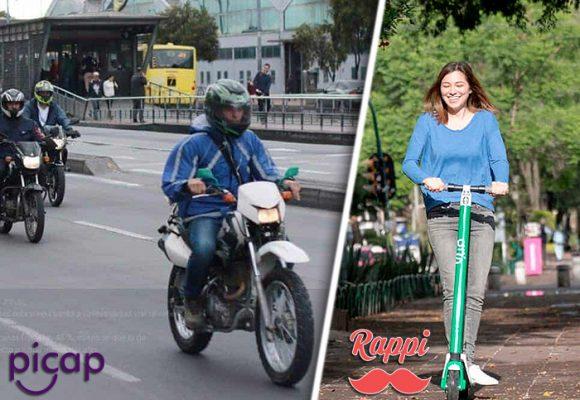 Guerra de mototaxis, bicis alquiladas, y patinetas eléctricas en Bogotá