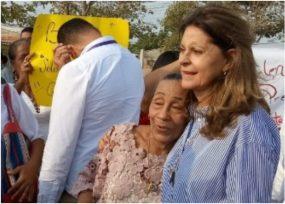 El sello de Mamá Franca en entrega de obras del gobierno Duque en La Guajira