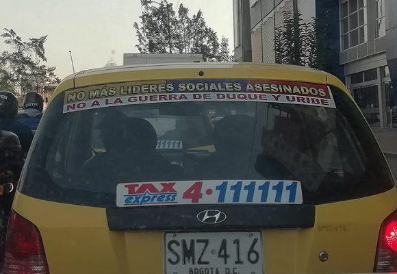 El taxista que no soporta a Duque