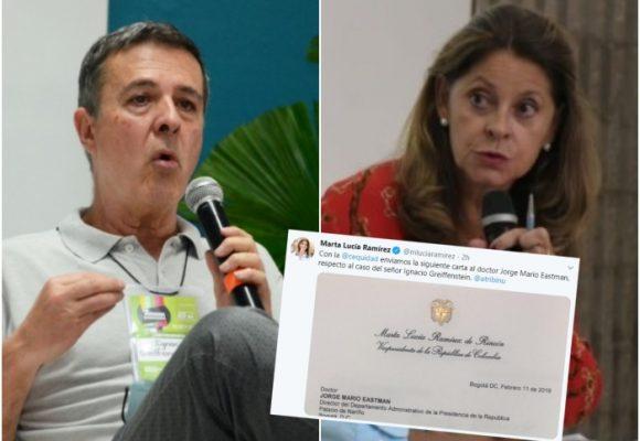 Trino de Marta Lucía Ramírez sacó al director de televisión de Presidencia