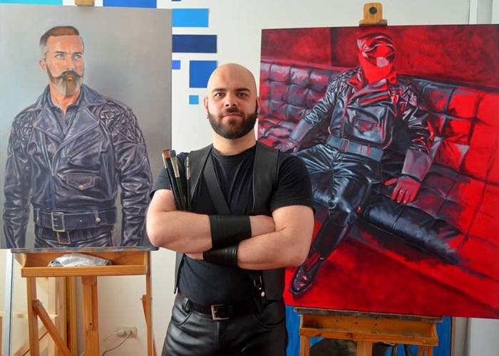 Alex Partal, el pintor español que retrata la subcultura del cuero