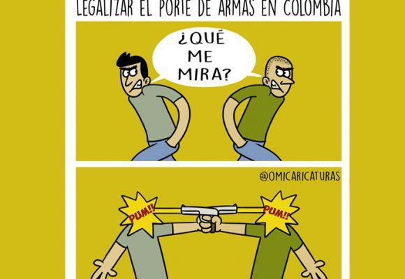 Caricatura: Plomo es lo que se viene si legalizan el porte de armas