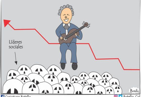 Caricatura: Mientras sube la popularidad de Duque, aumentan los muertos
