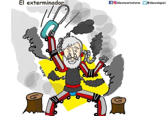 Caricatura: Peñalosa, el exterminador