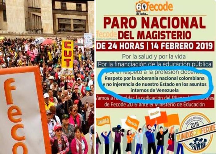 """""""Mamertos utilizan la protesta social para apoyar a la camarilla comunista venezolana"""""""