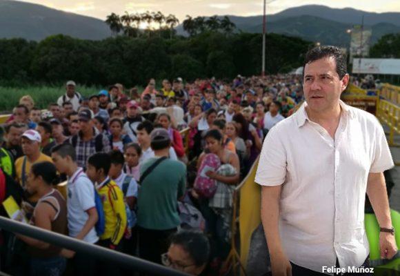 La misión imposible de Felipe Muñoz en la frontera con Venezuela
