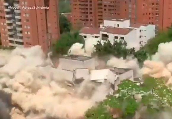 [Video] Así fue la implosión del Edificio Mónaco en Medellín