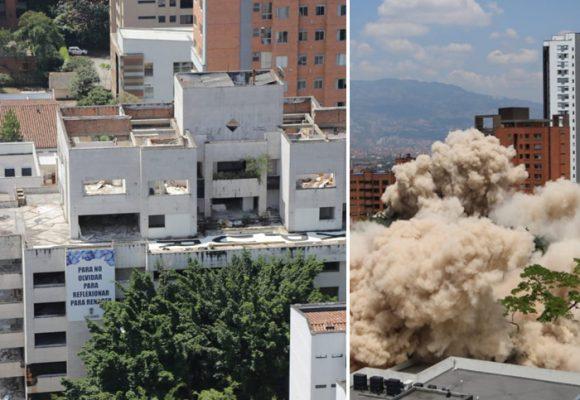 Edificio Mónaco, una implosión meramente simbólica