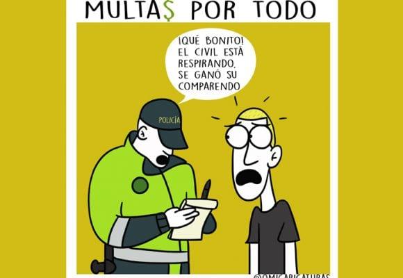 Caricatura: ¡Multas por todo!