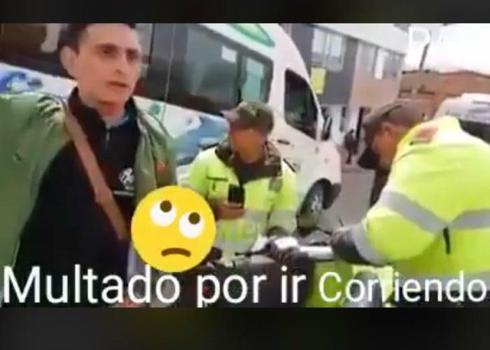 [Video]: otra ridícula multa, esta vez por correr en la calle